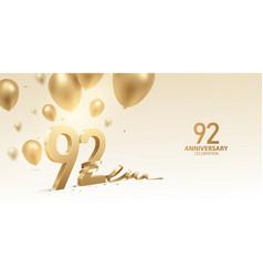 92nd anniversary celebration background vector