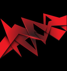 abstract red polygon overlap on black vector image