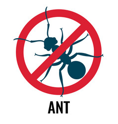 Anti-ant emblem with bug placed in circle vector