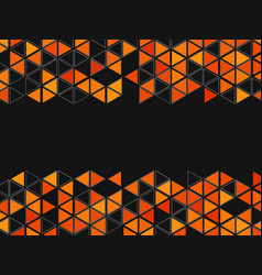 background with triangles and hexagons vector image