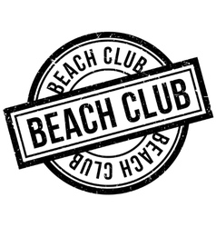 Beach Club rubber stamp vector image