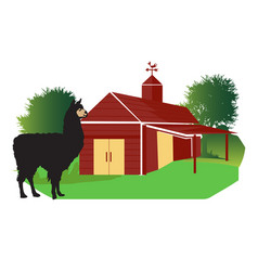 Beautiful nature green farm logo design vector
