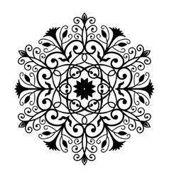 Black Forged Round Ornament vector