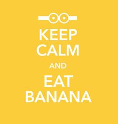 British motivational poster replica with banana vector