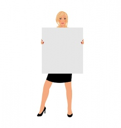 business girl with board isolated vector image