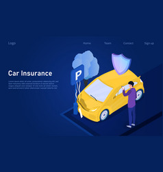 car isurance concept vector image