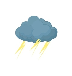 Cloud with lightnings icon cartoon style vector image