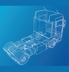 commercial delivery cargo truck for brand vector image