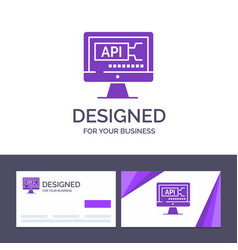 Creative business card and logo template computer vector