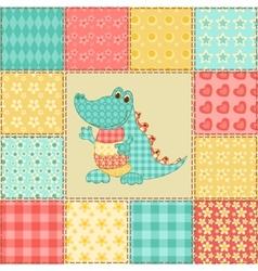Crocodile patchwork pattern vector image