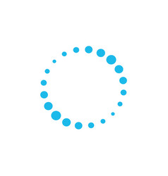 Dotted letter o circle dots logo template loading vector