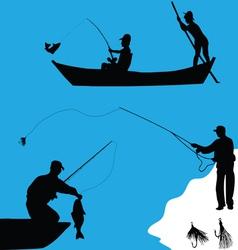 Fishermen-1 vector image