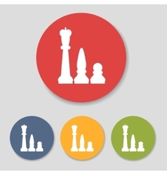 Flat chess figures icons vector image