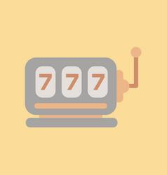 flat icon on background poker slot machine vector image
