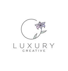 Flower logo design template vector