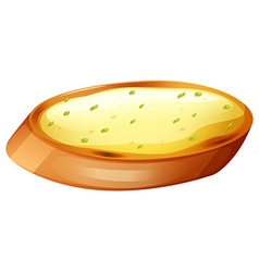 Garlic bread with cheese vector image