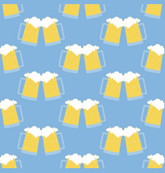 glass of beer pattern vector image