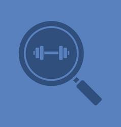 gym search glyph color icon vector image