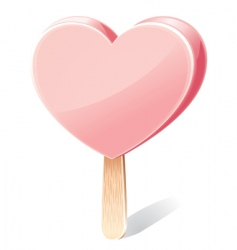 heart shaped ice cream vector image