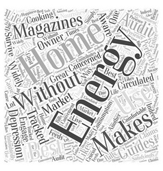 Home energy magizines II Word Cloud Concept vector