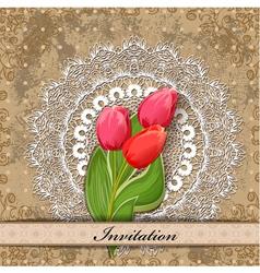 invitation tulip vector image