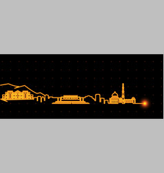 Kabul light streak skyline vector