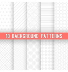 Light grey seamless patterns for universal vector