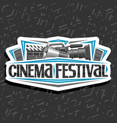 logo for cinema festival vector image