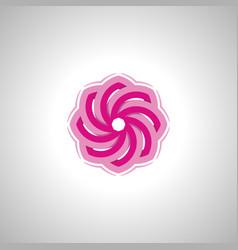 lotus flower image symbol vector image