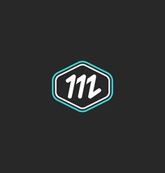M logo letter monogram mockup design element thin vector image