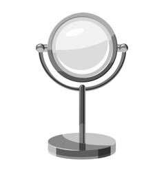 Makeup mirror icon gray monochrome style vector
