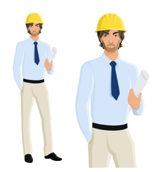 Man engineer portrait vector