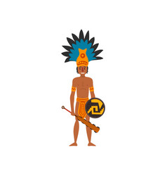mayan indian maya civilization character vector image