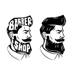 Men with beard vector