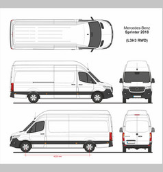 Mercedes sprinter cargo van l3h3 rwd 2018 vector
