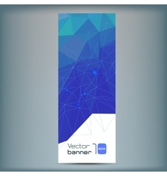 Modern banner with blue polygonal vector