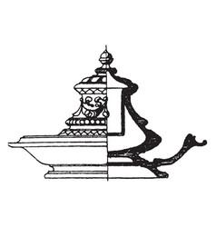 modern inkstand shaped vintage engraving vector image