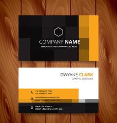 Modern pixel business card design vector