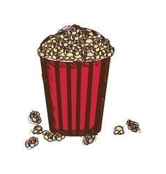 Movies popcorn icon image vector