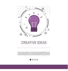 new creative idea innovation banner with copy vector image