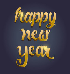 New year typography vector