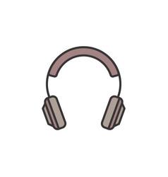 On-ear headphones creative icon headphone vector