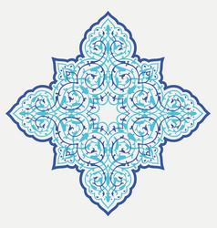 Oriental ornamental ligature vector