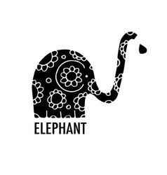 Ornate elephant design vector