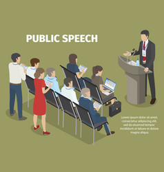 People records report of manager on public speech vector