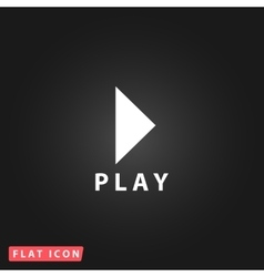Play button flat icon vector image