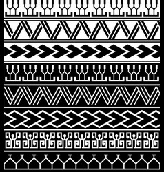 polynesian tattoo motif pattern collection vector image