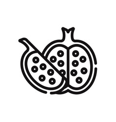 pomegranate icon vector image