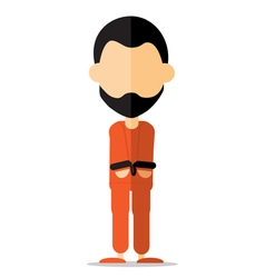 prisoner cartoon vector image
