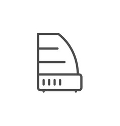 Refrigerated display case line outline icon vector